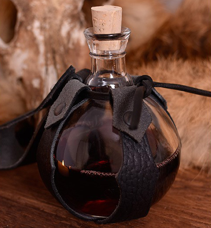 Kugelflasche aus glas mit g rtelhalter g nstig kaufen for Kuchenruckwand aus glas gunstig